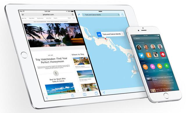 iOS 9 auf dem iPad Air 2 und iPhone 6