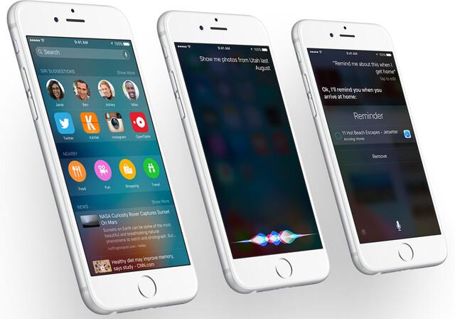 Suche und Siri in iOS 9