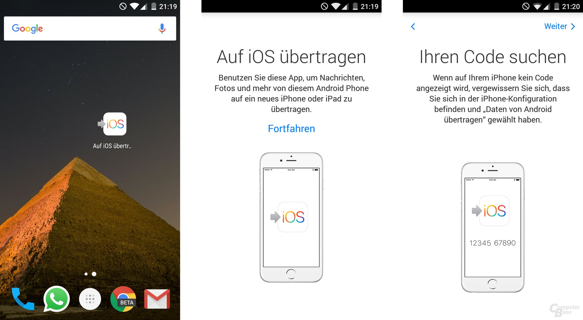 Move to iOS für Android