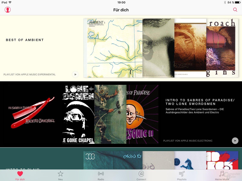 Apple Music auf dem iPad