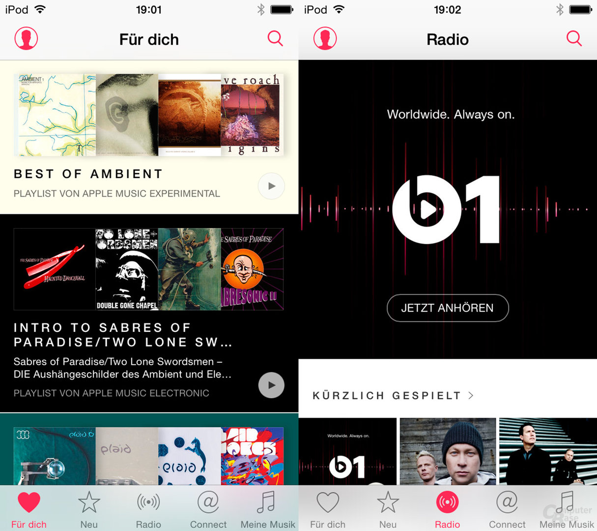 Apple Music auf dem iPod