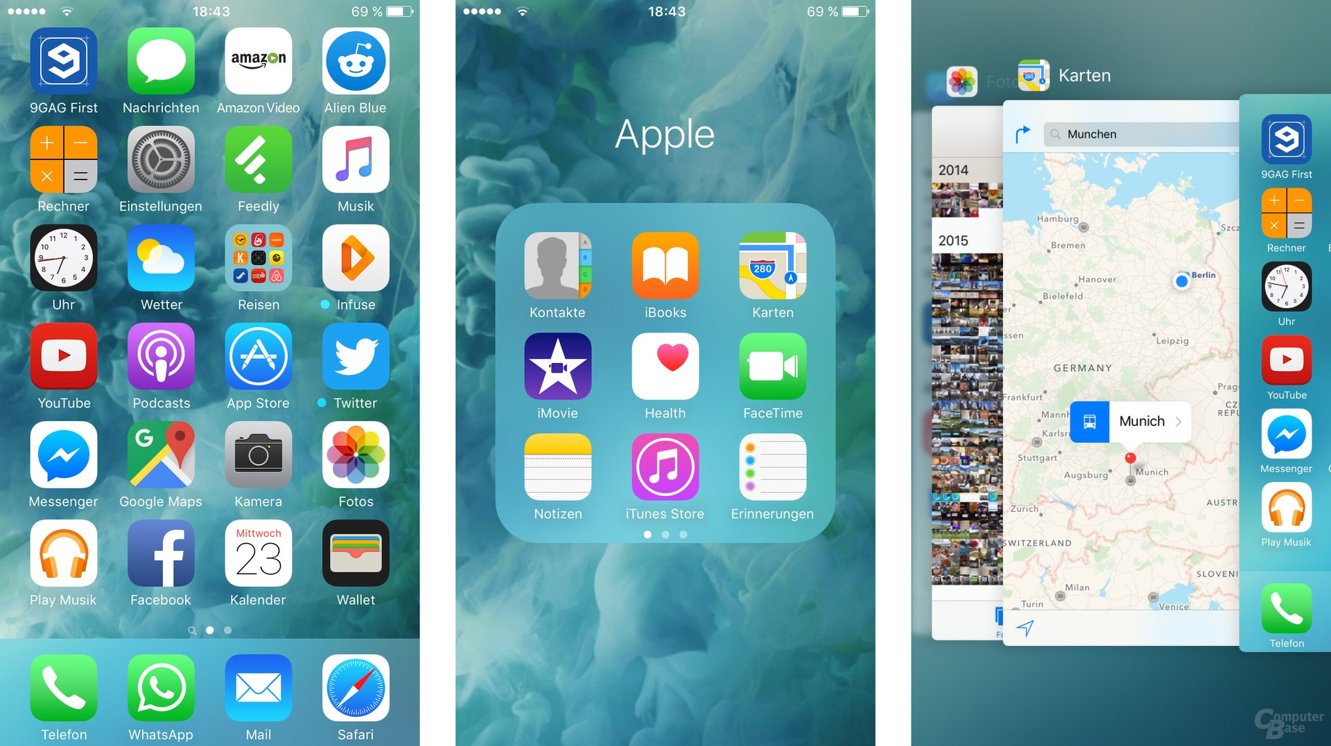 iOS 9: Homescreen, Ordner, Multitasking