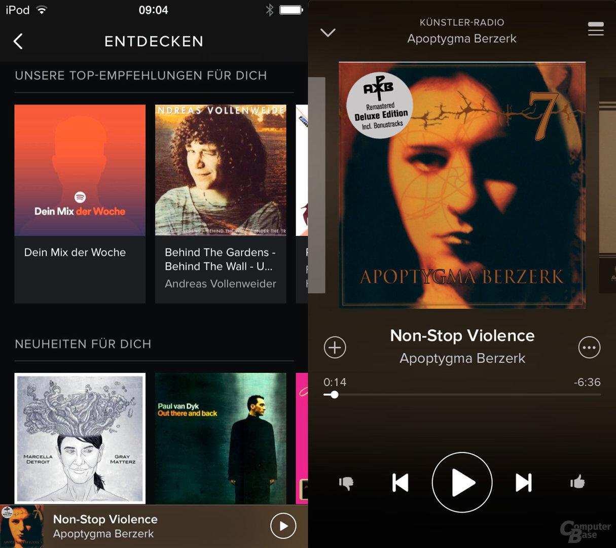 Spotify auf dem iPod