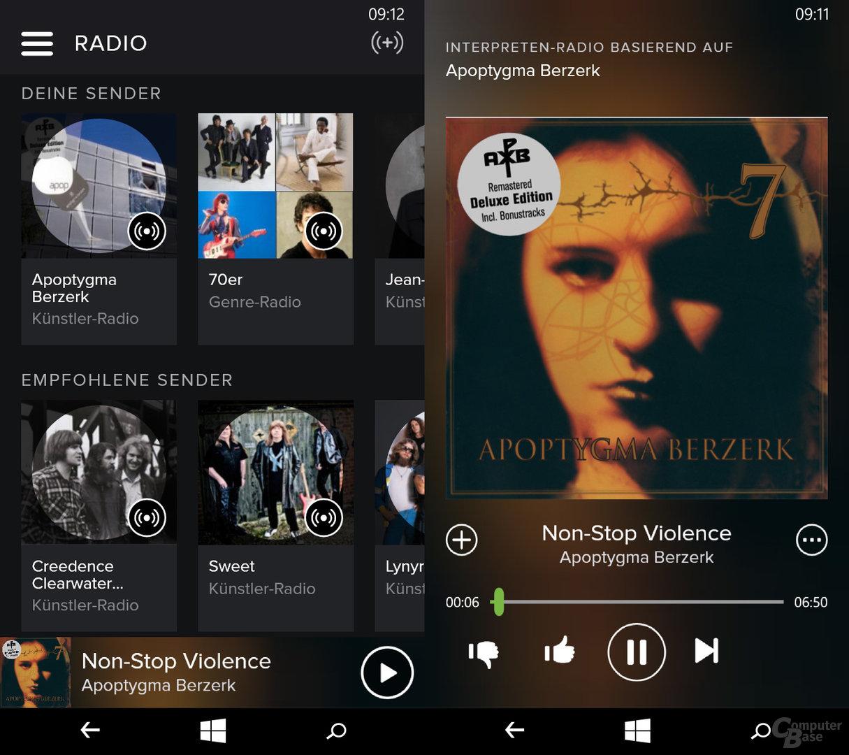 Spotify auf dem Windows-Phone