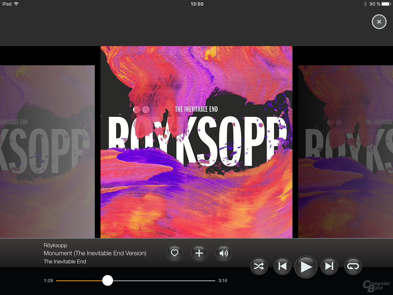 Napster auf dem iPad