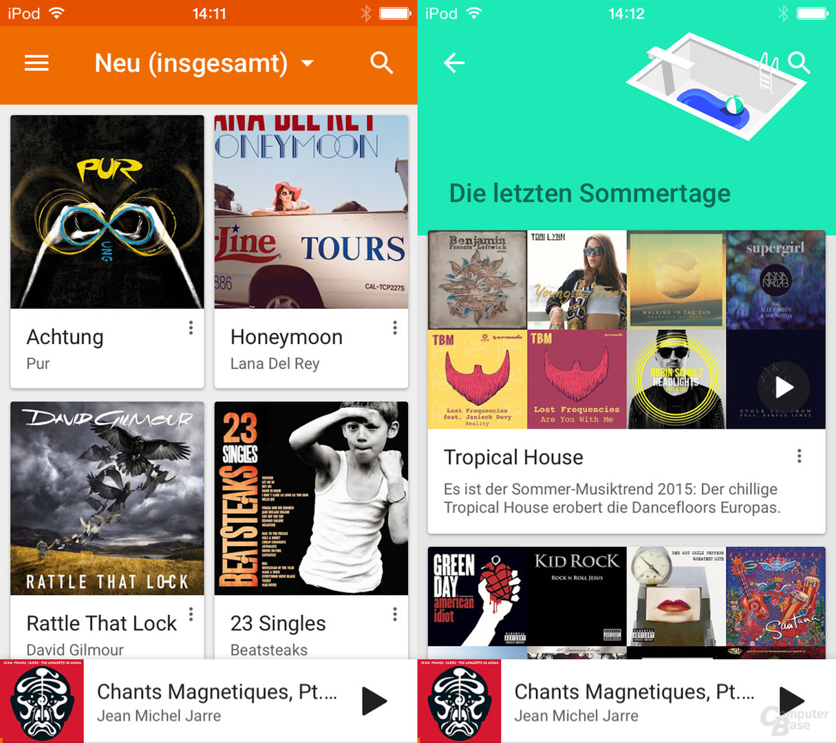 Google Play Music auf dem iPod