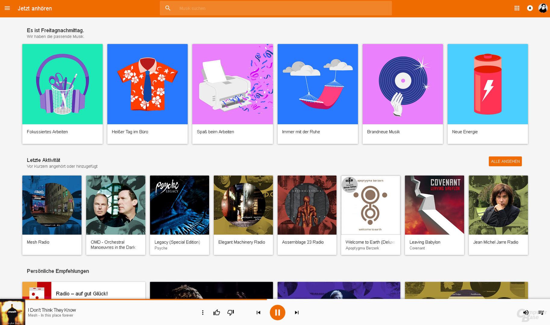 Google Play Music per Browser