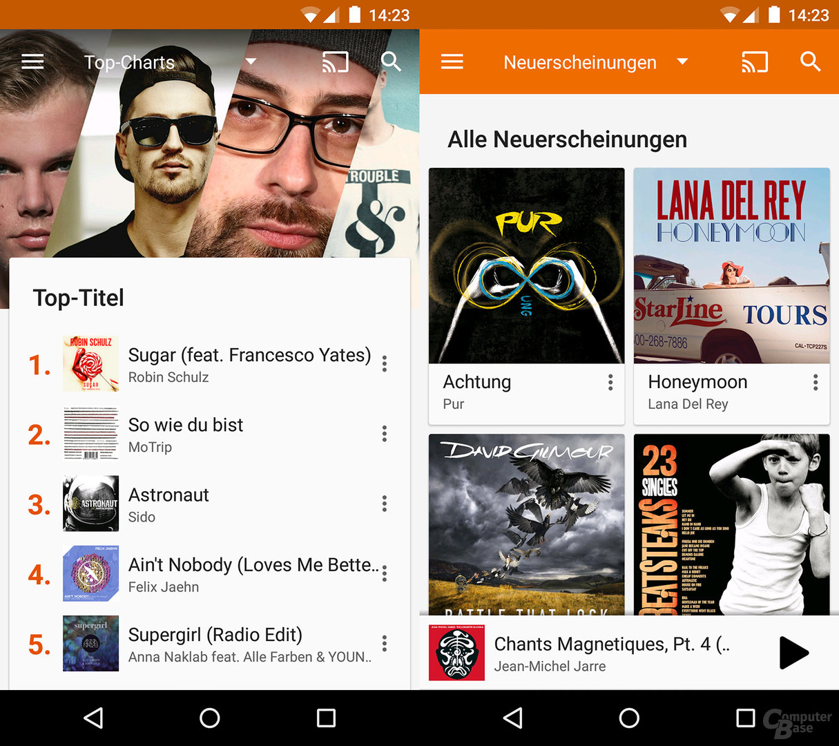 Google Play Music auf dem Android-Smartphone
