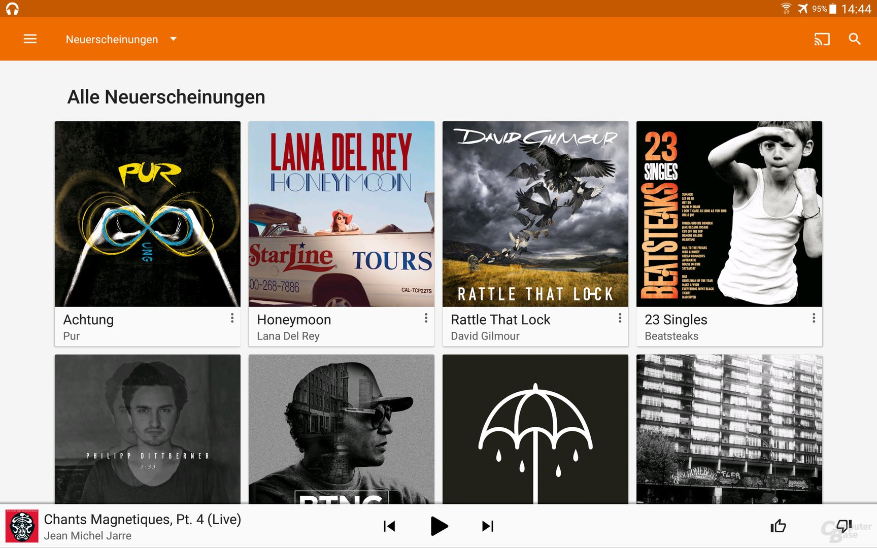 Google Play Music auf dem Android-Tablet
