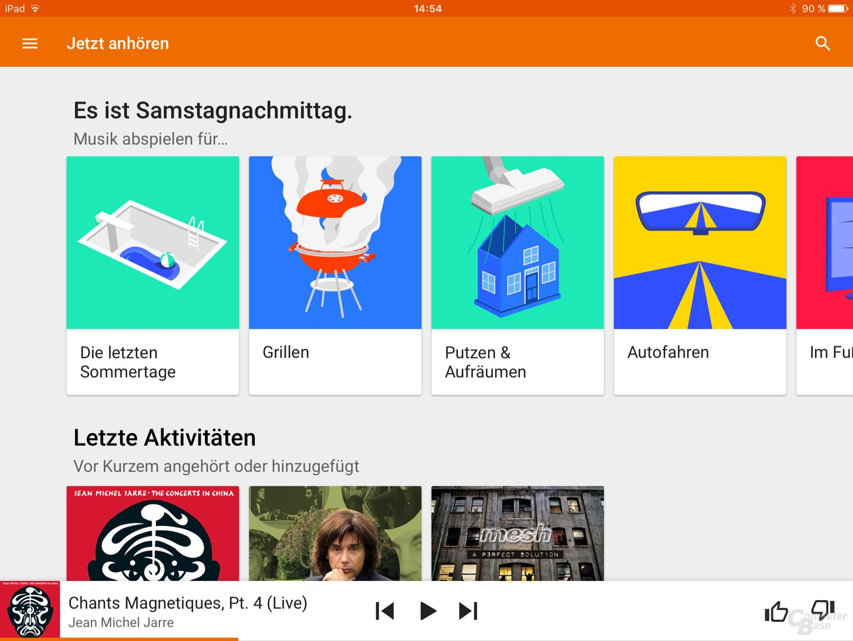 Google Play Music auf dem iPad
