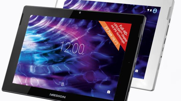 Medion Lifetab S10346: Android-Tablet samt Metallgehäuse für 199 Euro
