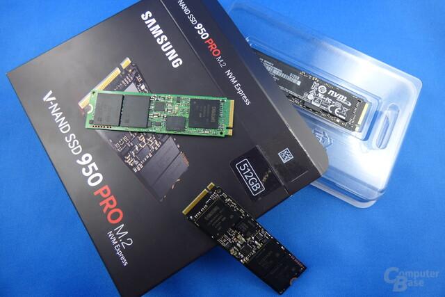 Samsungs NVMe-SSDs 950 Pro und SM951