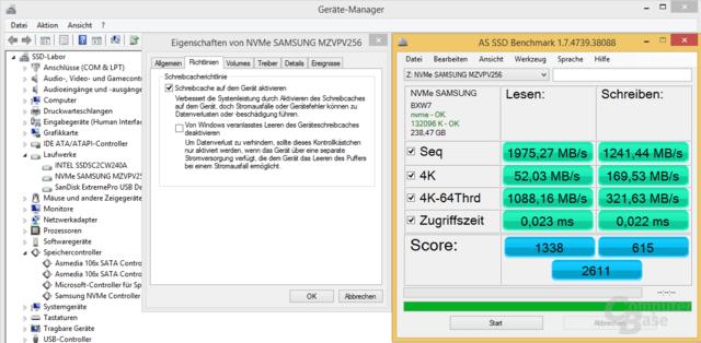 Auch die Samsung SM951 funktioniert mit Samsungs NVMe-Treiber