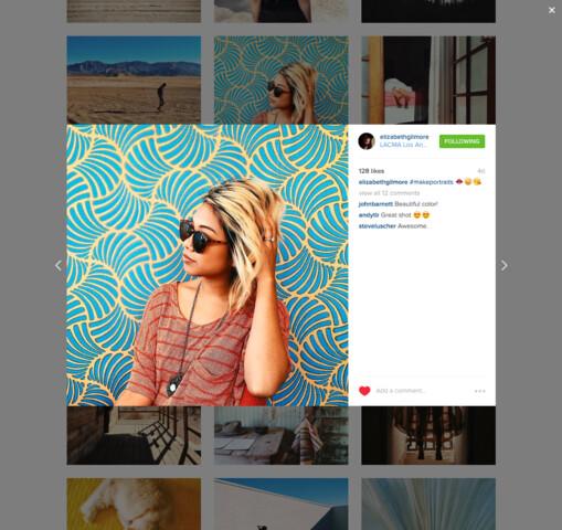Foto-Posting per Instagram (Desktop)