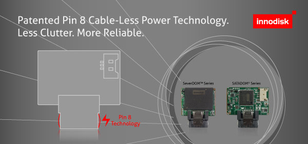 "Innodisks ""Pin 8 Cable-Less Power Technology"""