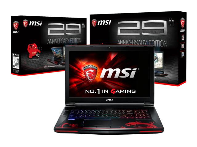 """MSI GT72S Dominator Pro G Special Edition – Gaming-Notebook in der """"29th Anniversary Edition"""" erscheint mit Skylake-CPU und GeForce GTX 980 Ende Oktober für 3.799 Euro"""