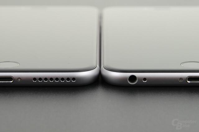 Apple iPhone 6s Plus (links) neben iPhone 6 Plus (rechts)