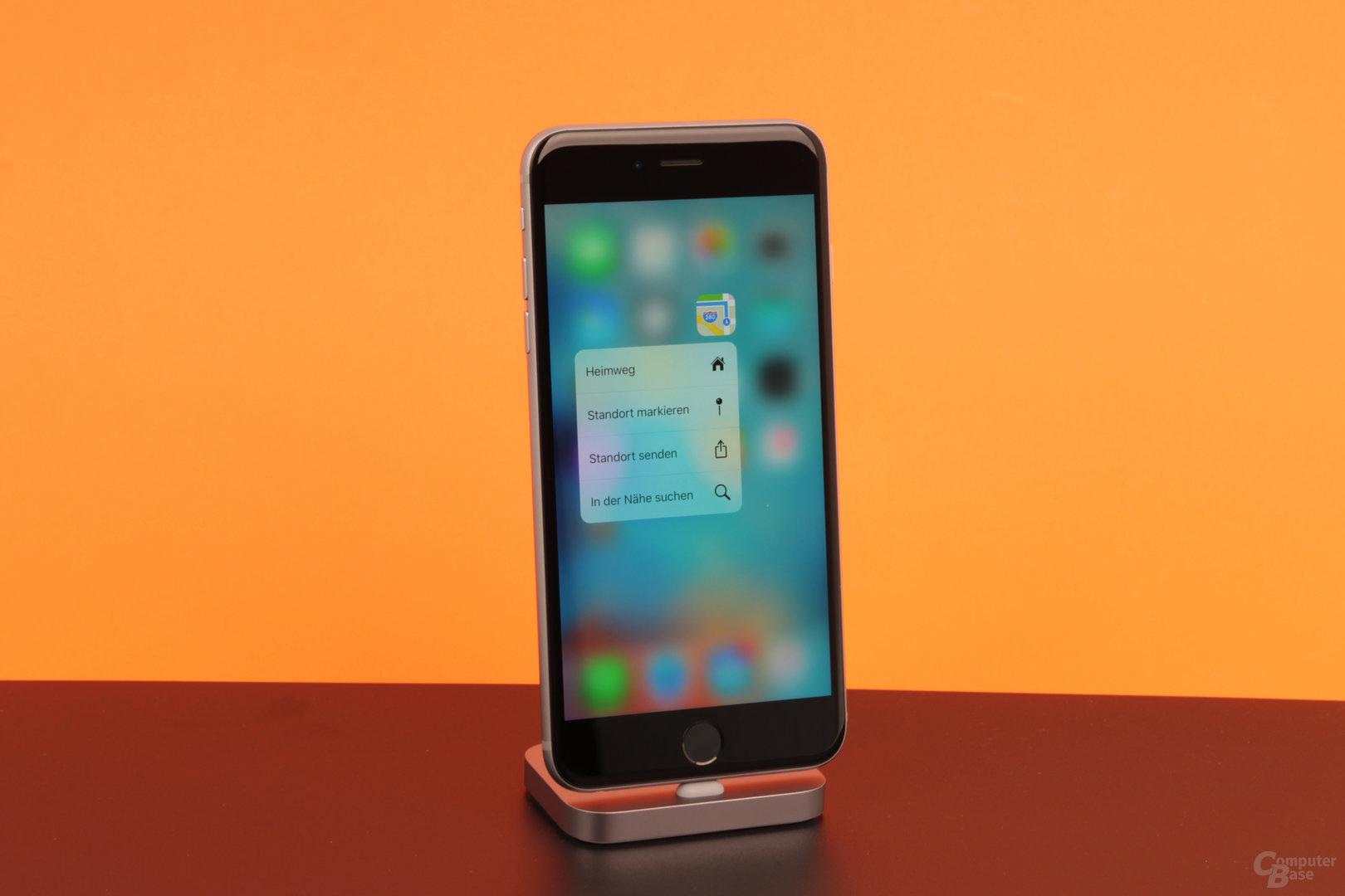 3D Touch auf dem iPhone 6s Plus