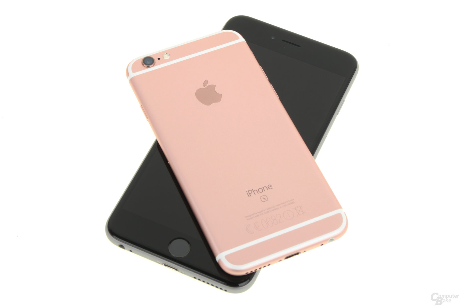 Apple iPhone 6s Roségold auf iPhone 6s Plus