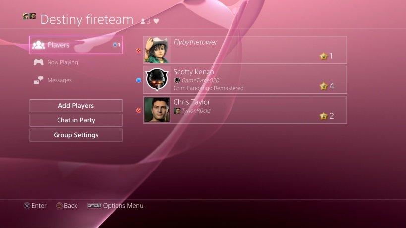 PlayStation 4 Firmware 3.0 – Gruppen