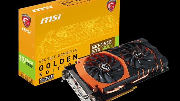 MSI: GeForce GTX 980 Ti als Golden Edition aufgelegt