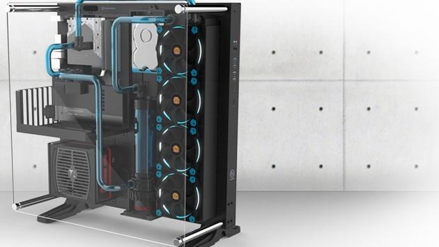 """Thermaltake Core P5: Modulares Wandgehäuse """"für Erfinder"""" mit 3D-Drucker"""