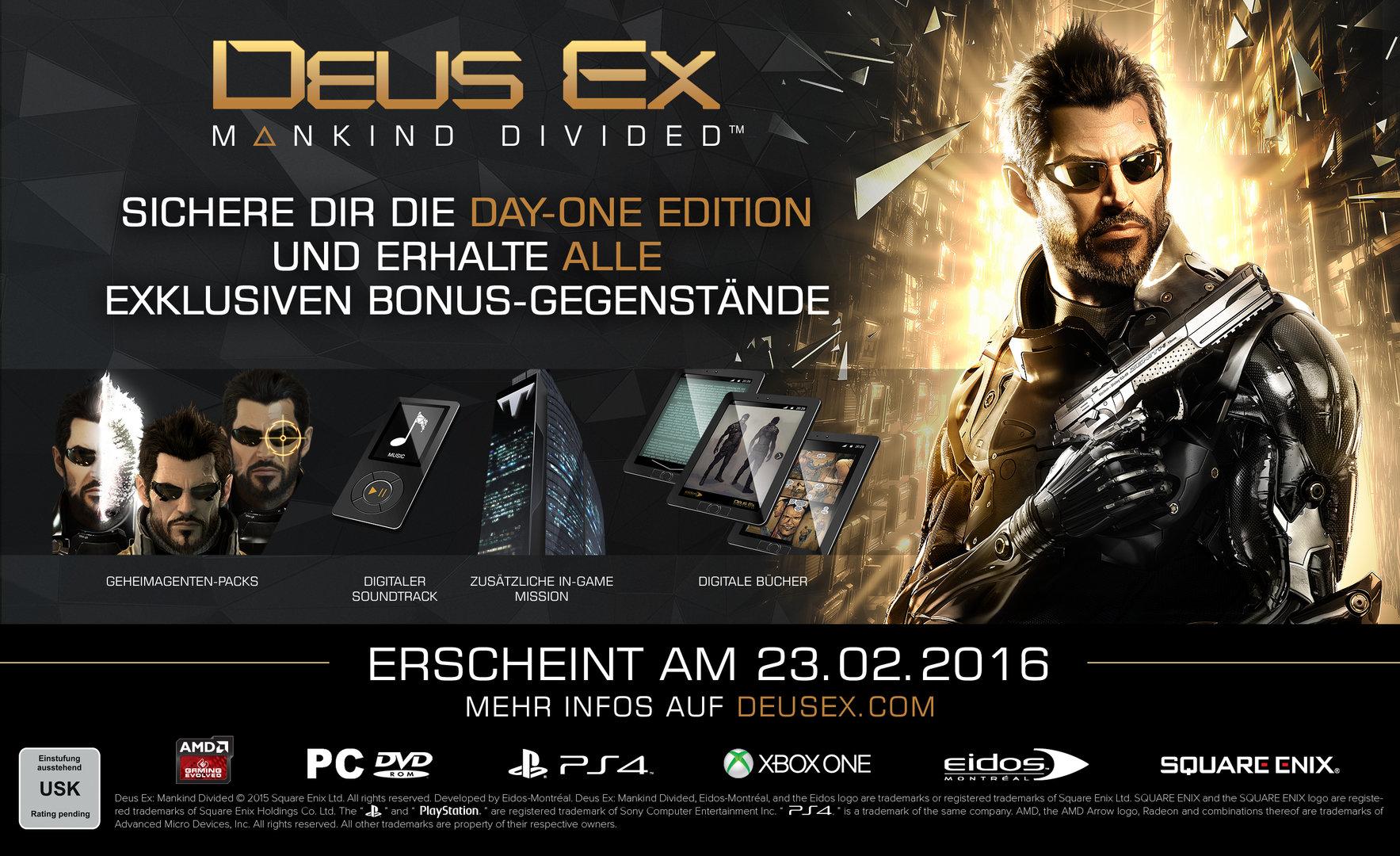 Day-One-Edition von Deus Ex