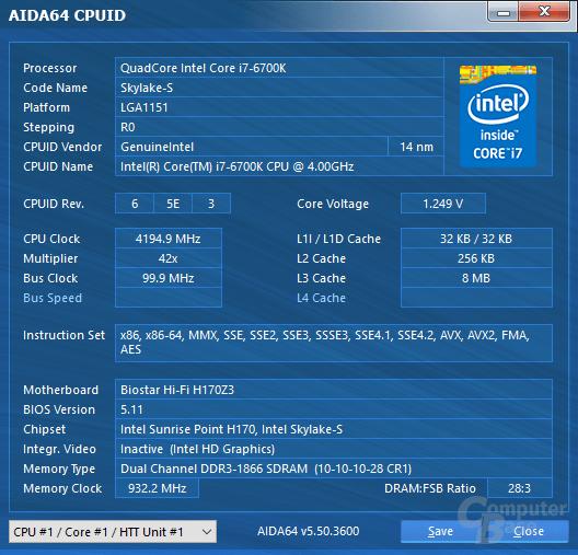Biostar-Mainboard mit DDR3-1866