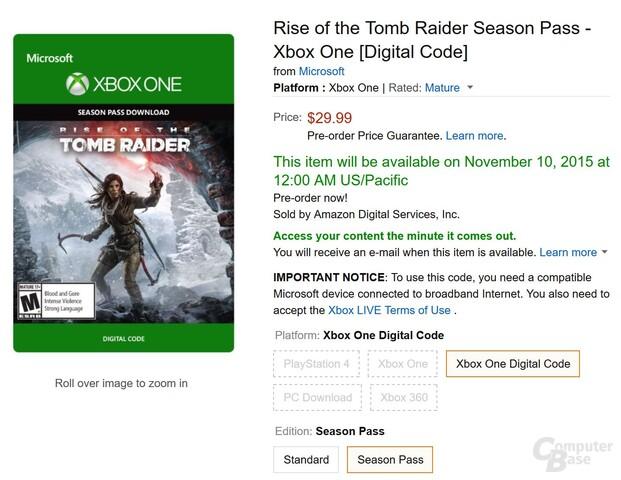 Amazon hat den Season Pass bereits in der vergangenen Woche angekündigt