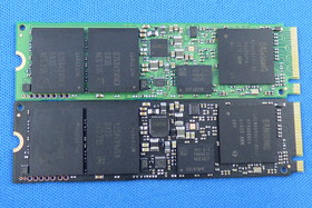 950 Pro 256 GB (unten), SM951 NVMe 256 GB (oben)