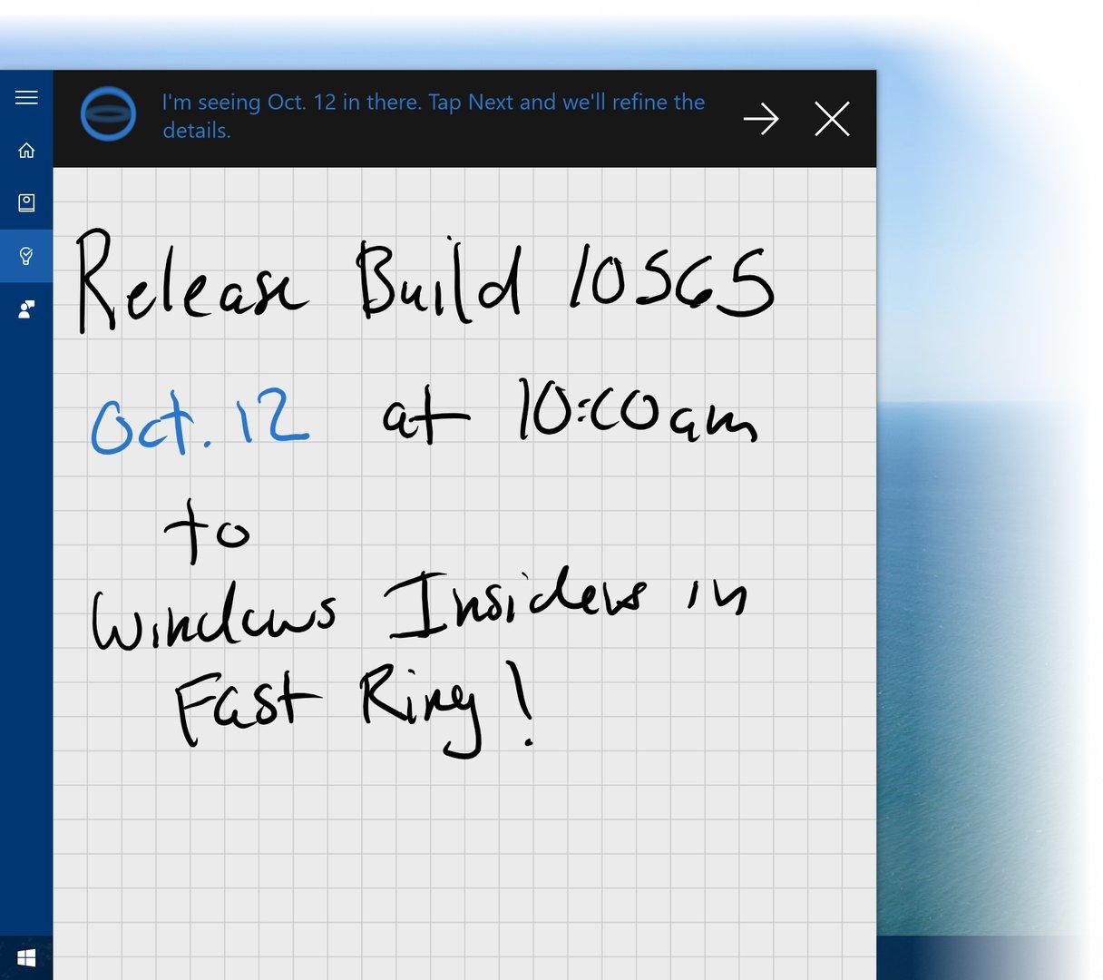 Cortana erkennt jetzt Handschrift
