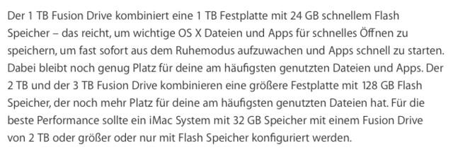 Das kleinste Fusion Drive hat nur noch 24 GB Flash-Speicher