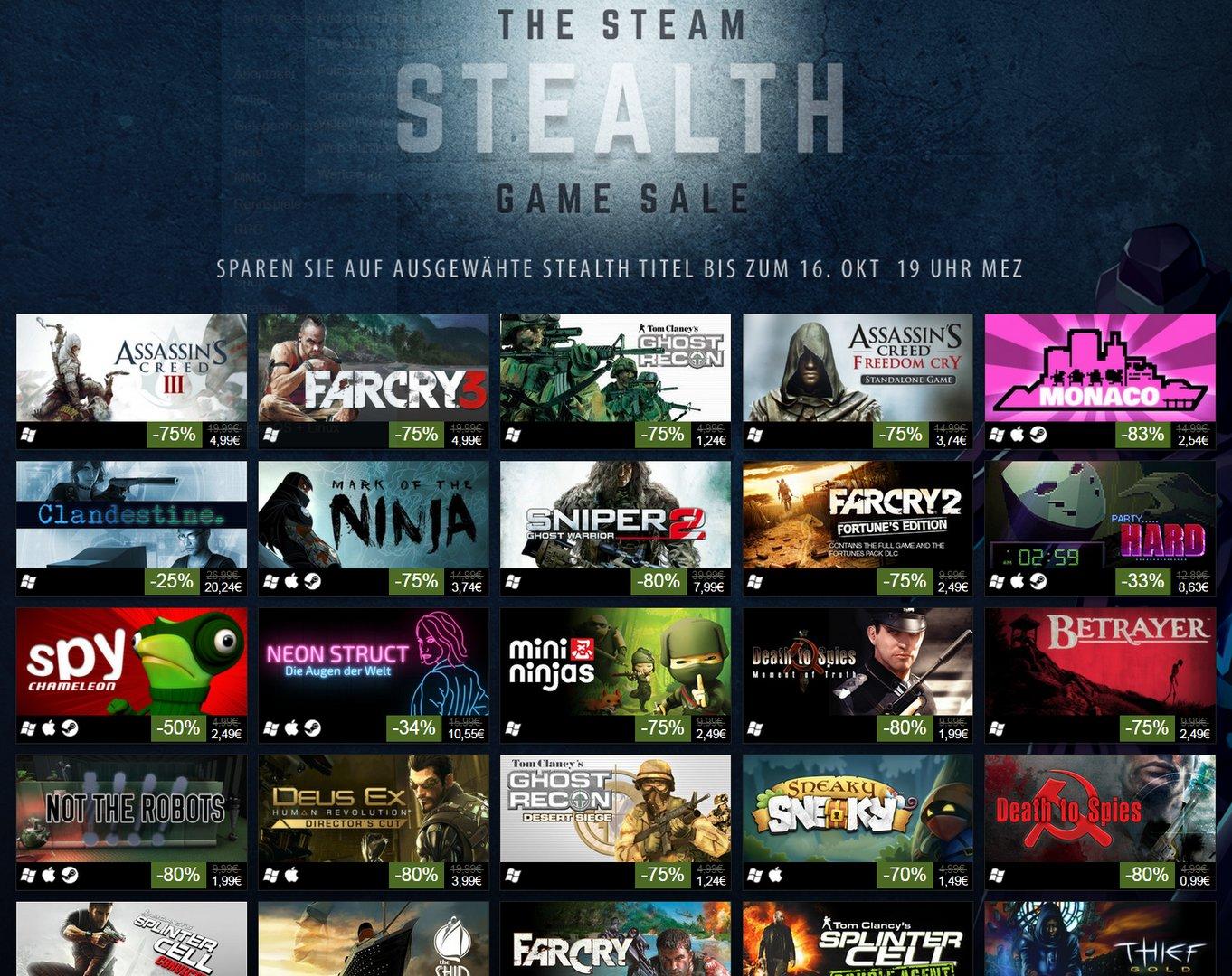 Steam Stealth Game Sale