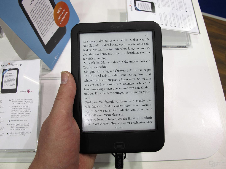 Tolino Shine 2 HD auf der Frankfurter Buchmesse ausprobiert