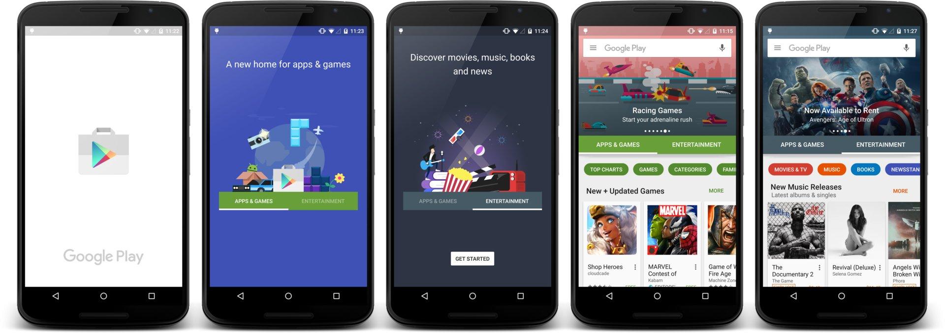 Neues Google Play – Ersteinrichtung