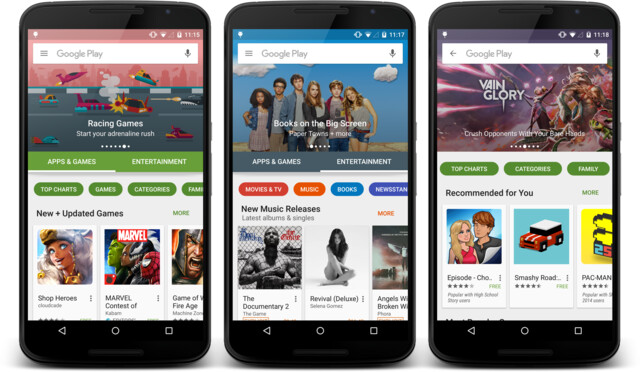 Neues Google Play