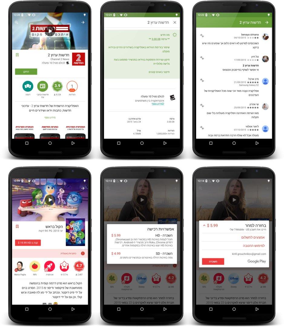 Neues Google Play – Right-to-left-Unterstützung
