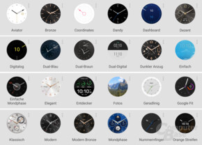 Watchfaces der Huawei Watch Nr. 1