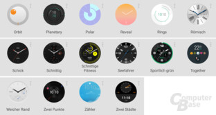 Watchfaces der Huawei Watch Nr. 2