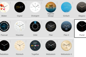 Watchfaces der Motorola Moto 360 2nd Gen