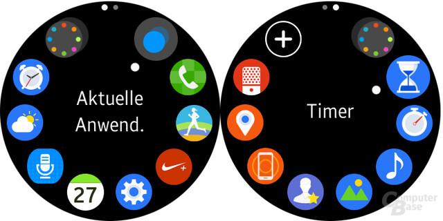 Abgespeckter Menüumfang unter Android eines nicht Galaxy-Smartphones