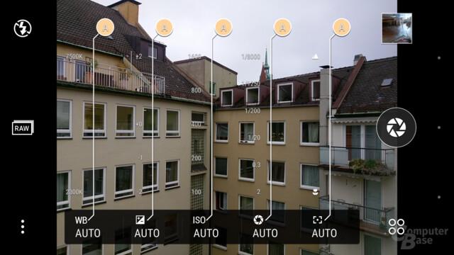 Kamera-App im Pro-Modus