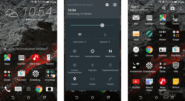 Android 6.0 Marshmallow mit Sense 7 auf dem HTC One A9