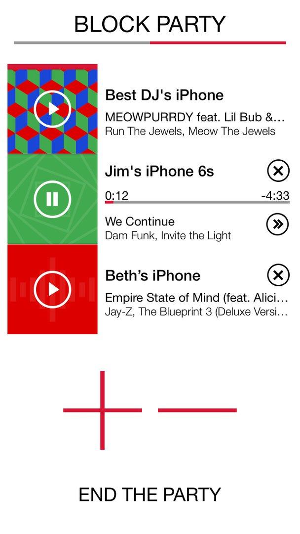 Ultimate Ears Block Party in der UE App