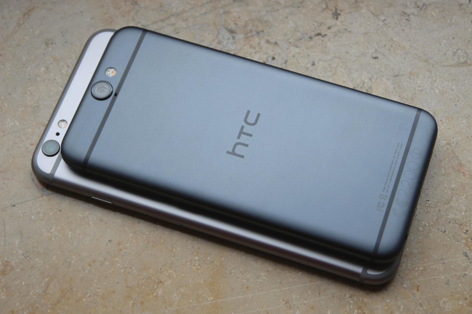 HTC One A9 auf Apple iPhone 6s Plus