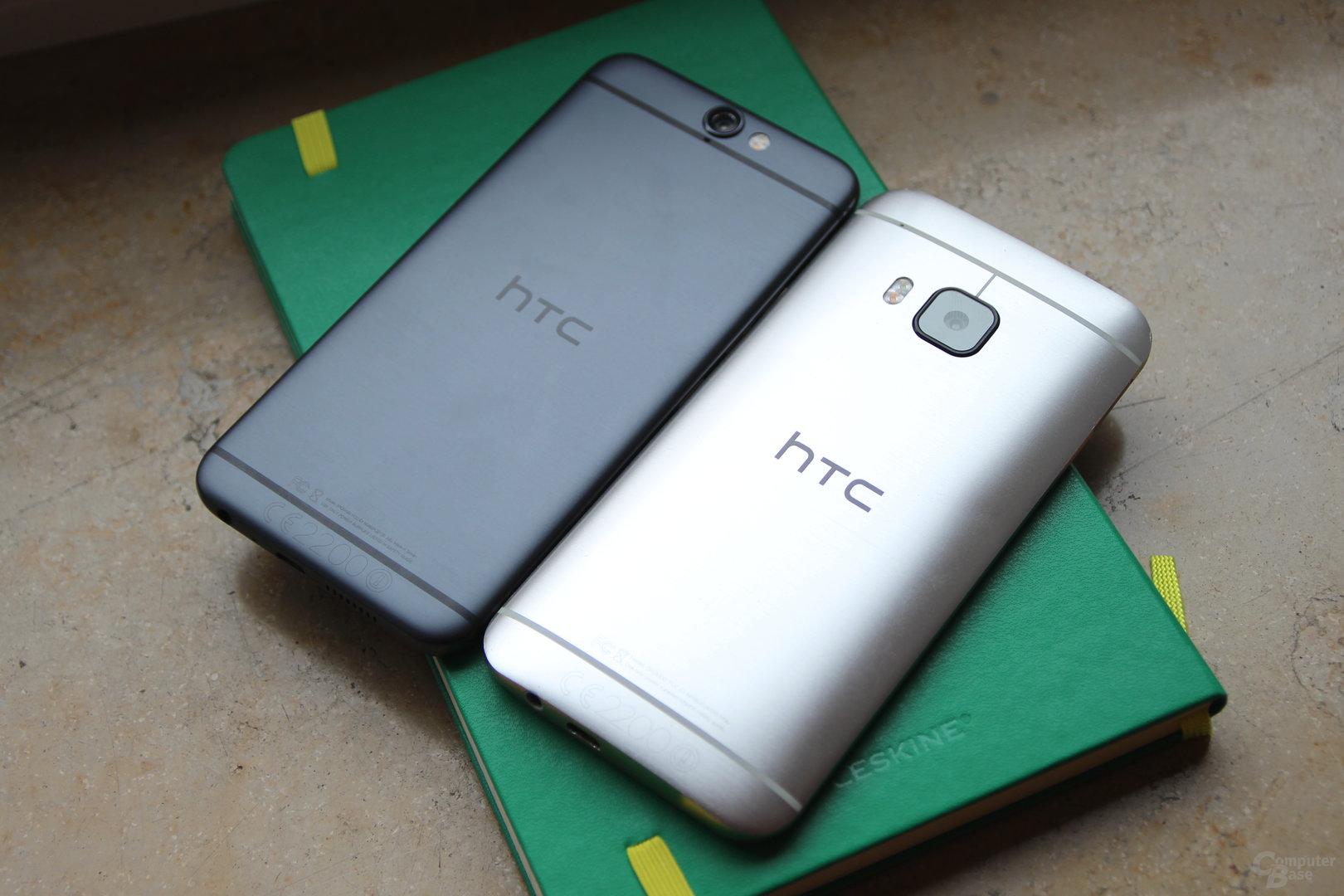 HTC One A9 neben HTC One M9