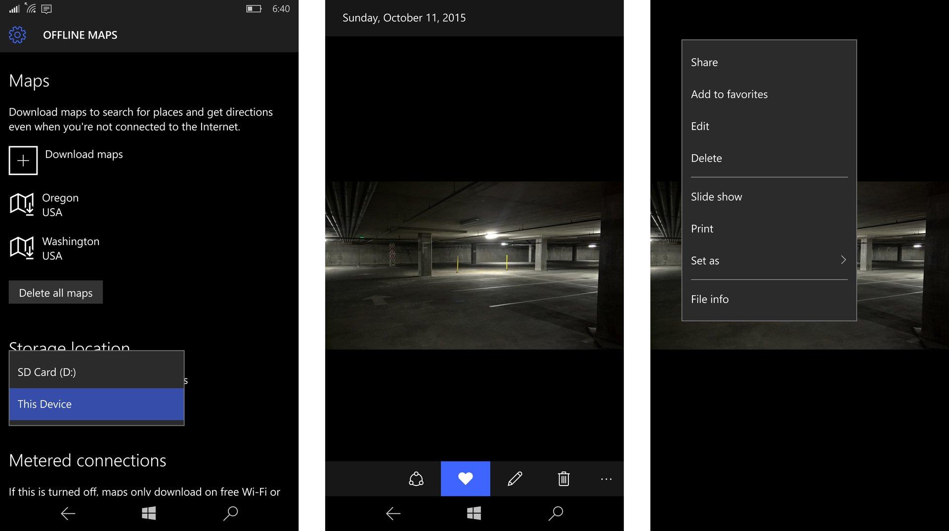 Offline-Karten und Fotos-App