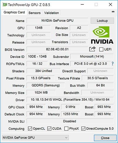 Surface Book mit angepasster GeForce GT 940M