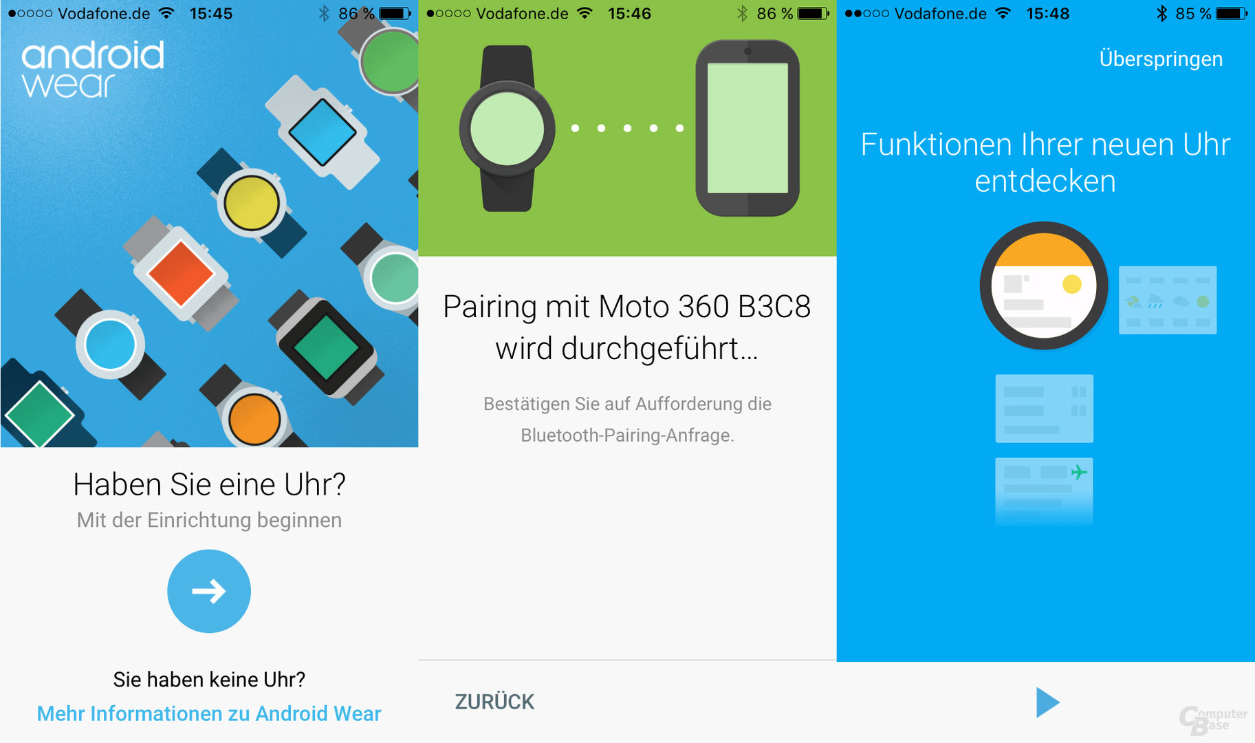 Android Wear unter iPhone – App
