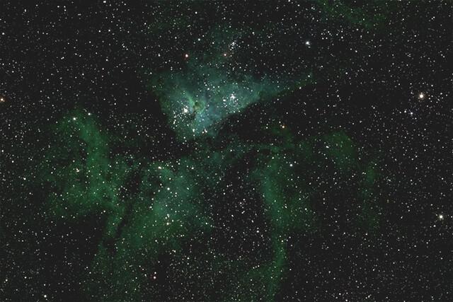 Ein kleiner Ausschnitt des riesigen Abbilds der Milchstraße